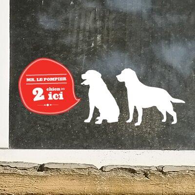ADZif Signal Chien(s) Ici Window Sticker