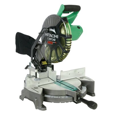 "Hitachi C10FCH2 Compound 10"" Blade Diameter 15 Amp Miter Saw With Laser Marker"