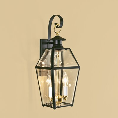 Norwell lighting olde colony 2 light outdoor wall lantern for Outdoor colonial lighting