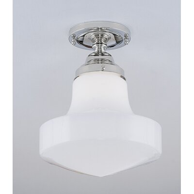 Norwell Lighting Schoolhouse One Light Semi Flush Mount with Shade