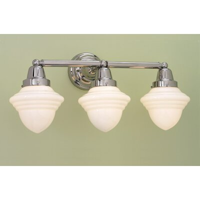 Norwell Lighting Bradford Schoolhouse 3 Light Bath Vanity Light & Reviews Wayfair