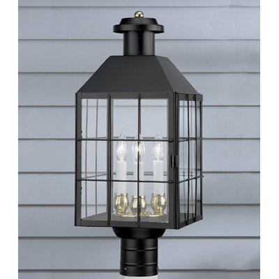 Norwell Lighting American Heritage 3 Light Outdoor Post Lantern