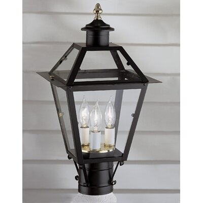 "Norwell Lighting Lexington 3 Light 9"" Outdoor Post Lantern"