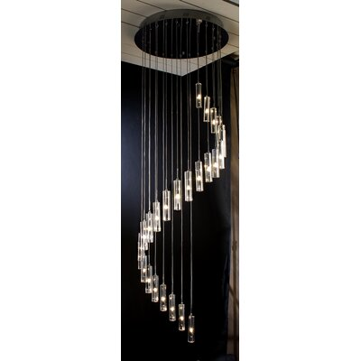 Trend Lighting Corp. Spirale 25 Light Crafted Chandelier