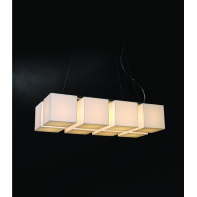 Trend Lighting Corp. Q Eight Light Large Chandelier in Brushed Nickel