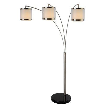 Trend Lighting Corp. Gray Chelsea 2 Light Arc Floor Lamp | Wayfair