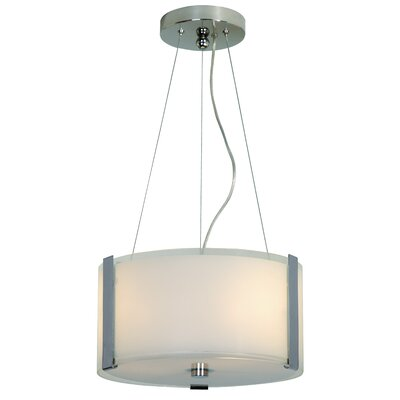 Trend Lighting Corp. Apollo 2 Light Small Drum Foyer Pendant