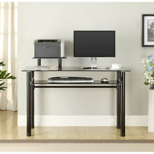 Innovex Glass Computer Desk & Reviews | Wayfair