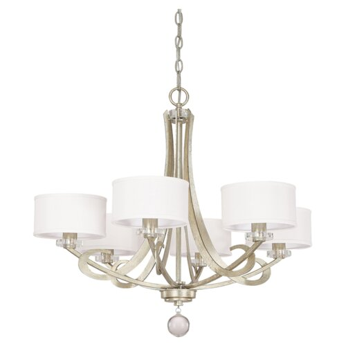 Hutton 6 Light Chandelier with Shades