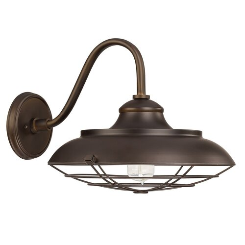 Wayfair External Wall Lights : Outdoor 1 Light Barn Style Wall Sconce Wayfair