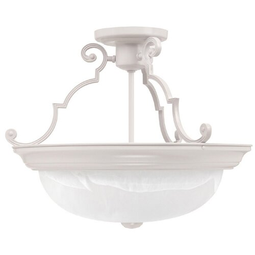 "Capital Lighting 14"" 3 Light Semi Flush Mount"