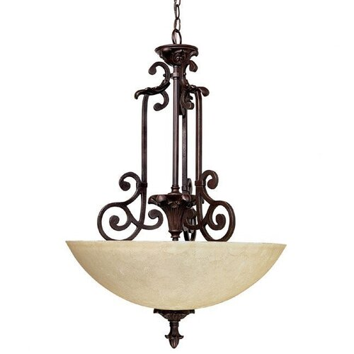 Capital Lighting Mediterranean 3 Light Inverted Pendant