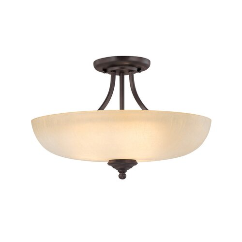 Capital Lighting Chapman 3 Light Semi Flush Mount