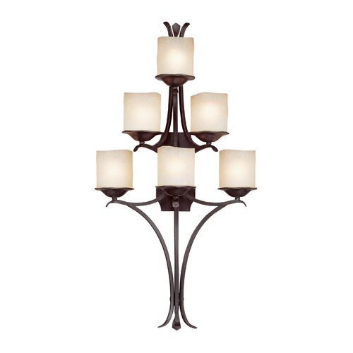Capital Lighting Montana 6 Light Wall Sconce in Raw Umber