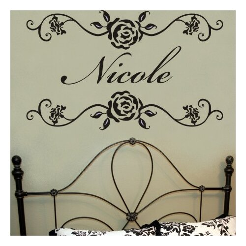 Alphabet Garden Designs Rosevine Monogram Wall Decal