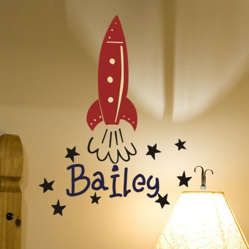 Personalized Rocket Wall Decal