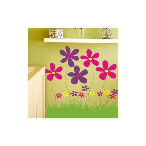 Alphabet Garden Designs Field of Flowers Wall Decal