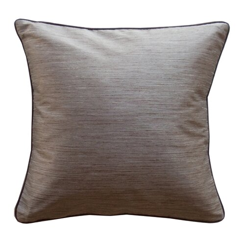 Jiti Plain Piping Stripe Square Polyester Decorative Pillow