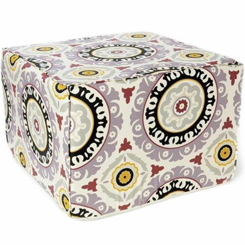 Jiti Suzani Henna Cotton Cube Ottoman