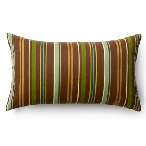 Thin Vertical Stripes Outdoor Decorative Pillow in Brown