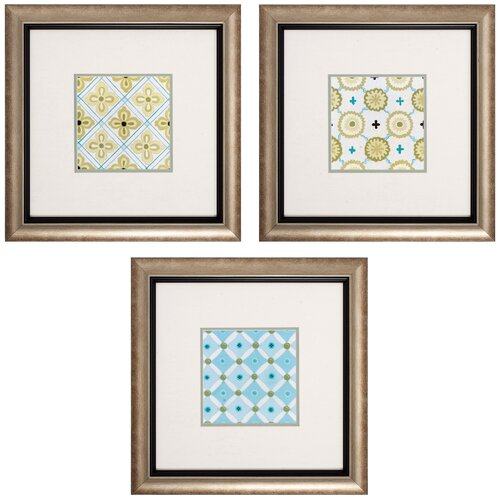 Cottage 3 Piece Framed Graphic Art Set