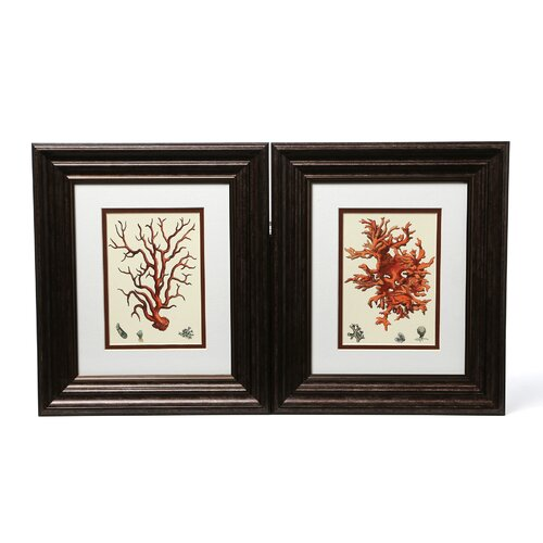 Red Coral I / III 2 Piece Framed Graphic Art Set (Set of 2)