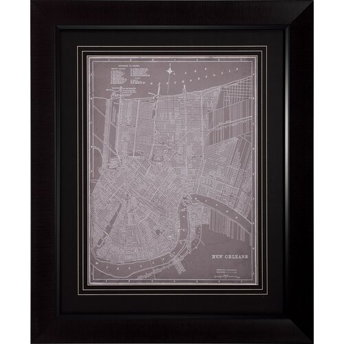 City Map of New Orleans Framed Graphic Art