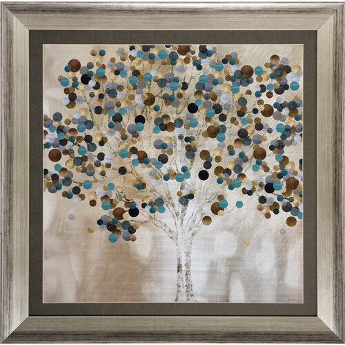 A Teal Tree Framed Graphic Art