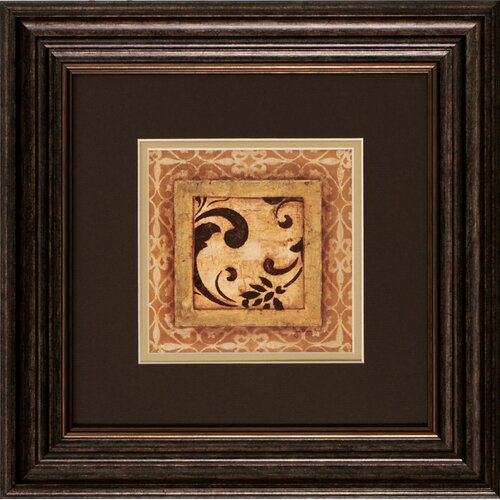 Scroll Detail I / II 2 Piece Framed Graphic Art Set (Set of 2)