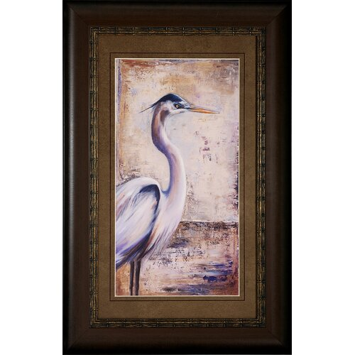 Propac Images Blue Heron I / II 2 Piece Framed Painting Print Set