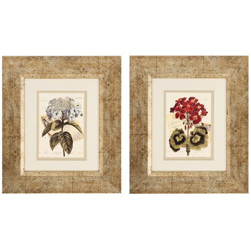 Bouquet III and IV 2 Piece Framed Painting Print Set (Set of 2)