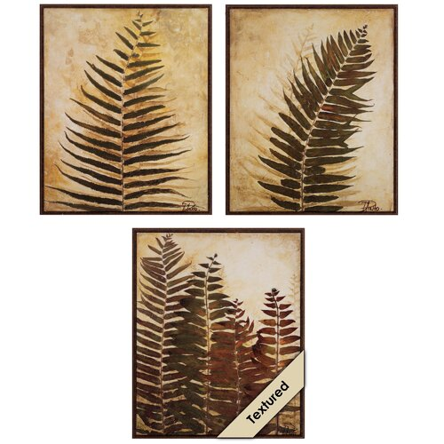 Ferns I and II and III 3 Piece Framed Painting Print Set (Set of 3) ...