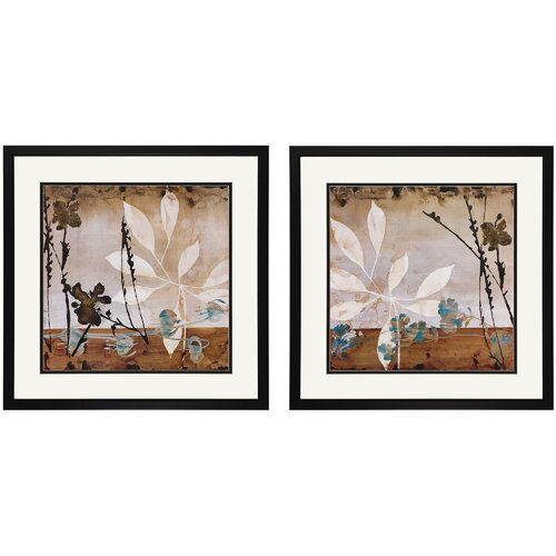 Floralscape I and II 2 Piece Framed Painting Print Set (Set of 2)