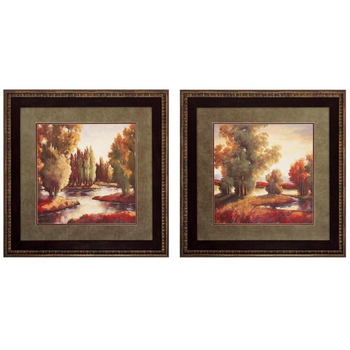 Sullivan Creek I and II 2 Piece Framed Painting Print Set (Set of 2)
