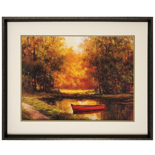 Propac Images Lonely Boat Framed Painting Print