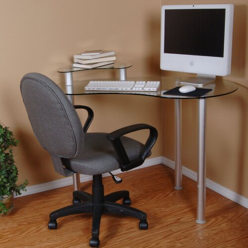 Corner Computer Desk with Monitor Stand