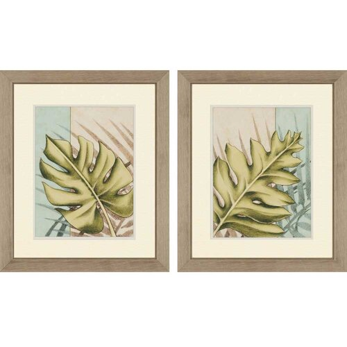 Tropical Shade II by Harper 2 Piece Framed Painting Print Set
