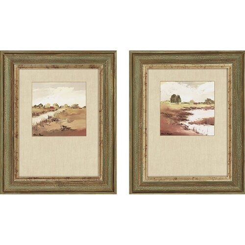 Farmlands by Paus 2 Piece Framed Painting Print Set
