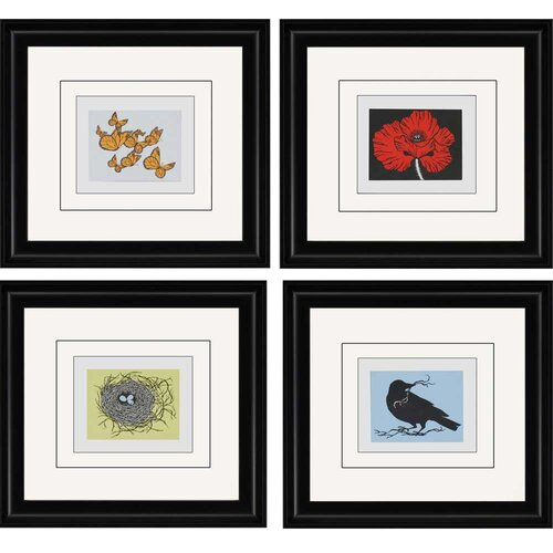 Paragon Treasures by McClure 4 Piece Framed Graphic Art Set