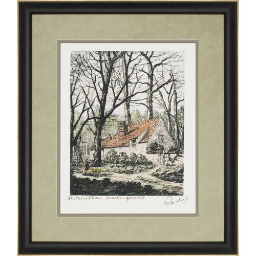 Maison Cottage Exclusive Framed Graphic Art