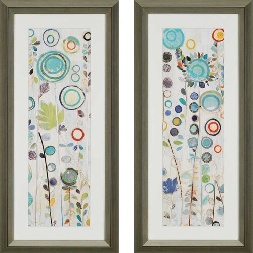 Ocean Garden by Boggs 2 Piece Framed Graphic Art Set