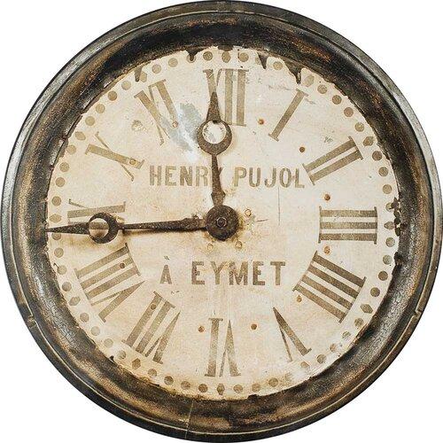 Paris Clock by Burney Painting Print Plaque