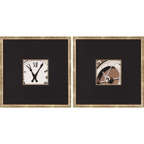 Clocks by Hall 2 Piece Framed Painting Print Set