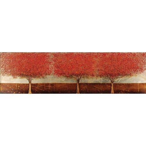Blazing Trees Original Painting on Canvas