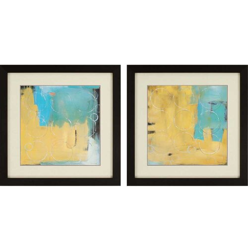 Loops by Pulliam 2 Piece Framed Graphic Art Set