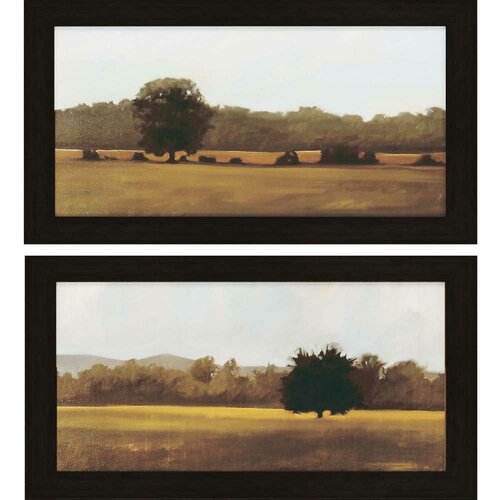 Resting and Silent by Lightell 2 Piece Framed Painting Print Set