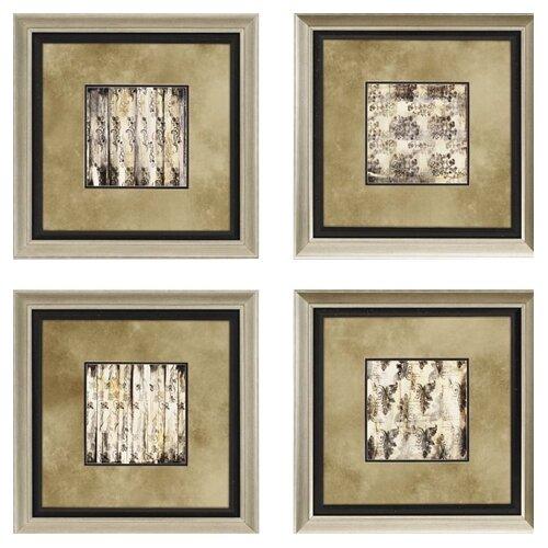 Aged Elegance by Goldberger 4 Piece Framed Graphic Art Set