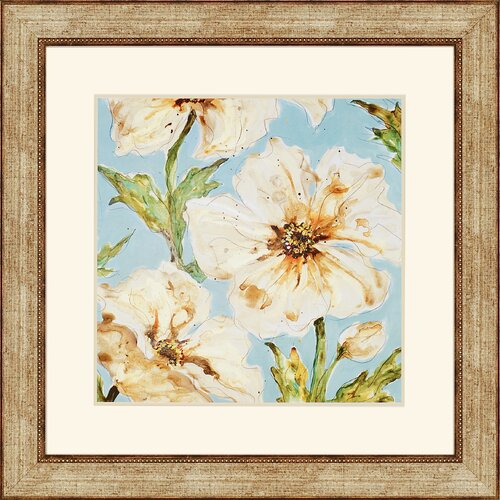 Blue Floral I by Leibrick Framed Painting Print