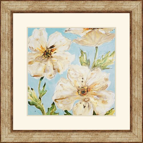 Blue Floral II by Leibrick Framed Painting Print