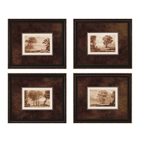 Landscapes I 4 Piece Framed Painting Print Set (Set of 4)